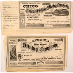 Attractive Early California & Nevada Mining Stock Certificates (28)