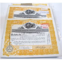 Yellow Gold of Cripple Creek Stock Certificate Collection (300)