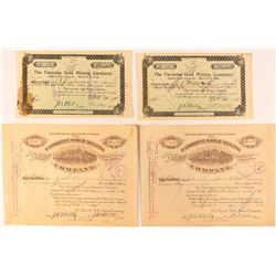 The Favorite Gold Mining Company Stock Certificates (Cripple Creek, Colorado)