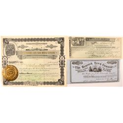 Colorado Mining & Other Stock Certificates