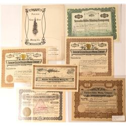 Fairview Mining Stock Certificate Collection and Prospectus