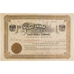 Goldfield Double Eagle Gold Mines Co. Stock Certificate, 1905