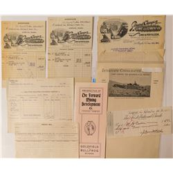 Goldfield Prospectus, Pictorial Letterhead, & Other Ephemera