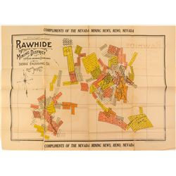 Large Color Rawhide Mining Claim Map