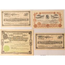 Four Round Mountain Mining Stock Certificates