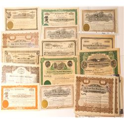 Tonopah Divide Stock Certificate Collection (24)