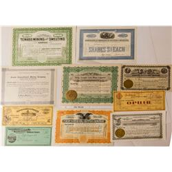 Nevada Mining Stock Certificate Group (10)