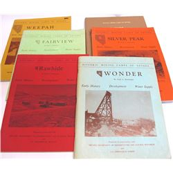 6 Volumes of Historic Mining Camps of Nevada by Shamberger