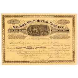 Salmon Mining Co. Stock Certificate, Black Hills, South Dakota, 1882