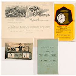 Mining Scales Ephemera (Billheads, Catalogs, Trade Card)
