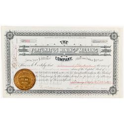 Fortunatus Mining And Milling Co. Stock Certificate, 1894, Wyoming