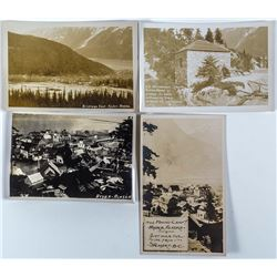 Four Real Photo Postcards of Hyder, Alaska