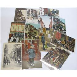 Twelve Chinatown Street Scenes Postcards