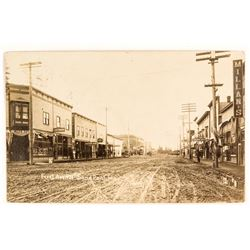 Sandpoint, Idaho First Avenue, Early Real Photo Postcard