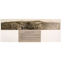 Rare 3-Panel Real Photo Panoramic Postcard of Rawhide, Nevada