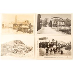 Four Postcards of Nevada (Virginia City, Tonopah, Rhyolite)