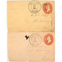 Two Early Double Ring Leland, Washington Covers