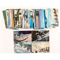 Skiing in the West Postcard Collection
