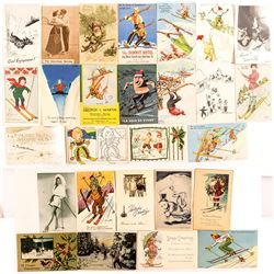 Skiing Postcards: Comic Relief and Holiday!