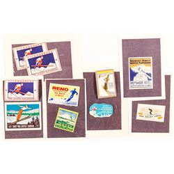 Skiing Stamps