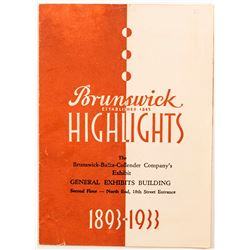 Vintage Brunswick Product Catalog