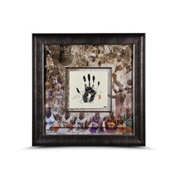 Shaquille O'Neal Signed LE All-Time Career 36x36 Custom Framed Tegata Handprint Display (UDA COA)