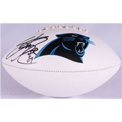 Steve Smith Sr. Signed Panthers Logo Football (Smith Hologram)
