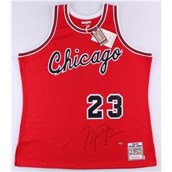 Michael Jordan Signed Mitchell  Ness Authentic 1984-85 Rookie Bulls Jersey (UDA COA)