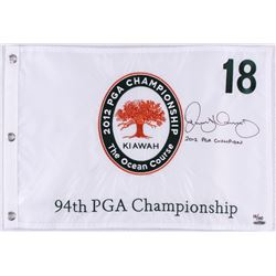 "Rory McIlroy Signed LE 2012 PGA Championship Pin Flag Inscribed ""2012 PGA Champion"" (UDA COA)"