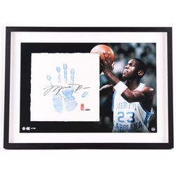 Michael Jordan Signed LE North Carolina 22x29 Custom Framed Tegata Handprint Display #19/123 (UDA CO
