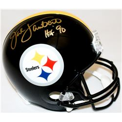 "Jack Lambert Signed Steelers Full-Size Helmet Inscribed ""HOF '90"" (Radtke COA  Lambert Hologram)"