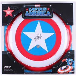 "Stan Lee Signed ""Captain America"" Marvel Authentic Full-Size Metal Shield (Stan Lee Hologram)"