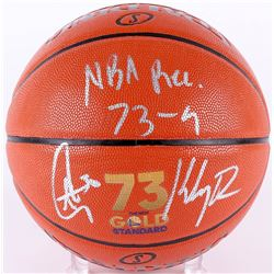 "Stephen Curry  Klay Thompson Signed ""73 Wins"" Official NBA Game Ball Series Basketball Inscribed ""NB"