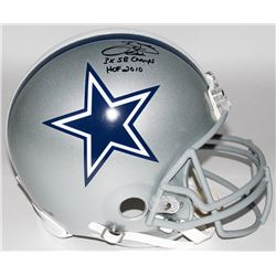 "Emmitt Smith Signed Cowboys Full-Size Authentic Pro-Line Helmet Inscribed ""3x SB Champs""  ""HOF 2010"""