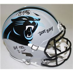 "Luke Kuechly Signed Panthers Full-Size Authentic Pro-Line Helmet Inscribed ""2012 DROY,"" ""164 TKs""  """