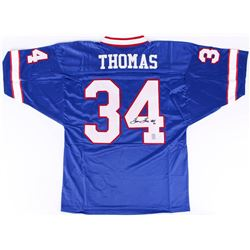 "Thurman Thomas Signed Bills Jersey Inscribed ""HOF 07"" (Thomas Hologram)"