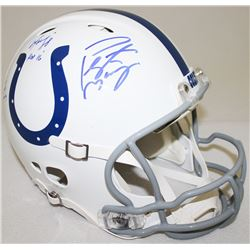 Peyton Manning  Marvin Harrison Signed Colts Full-Size Authentic Pro-Line Helmet With (4) Inscriptio