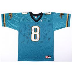 """Mark Brunell"" Jaguars Jersey Signed by (25) with Ben Coleman, Kevin Devine, Troy Sadowski, Jerry Pa"