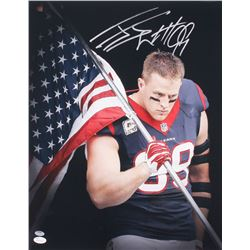 J.J. Watt Signed Texans 16x20 Photo (Schwartz COA  JSA Hologram)