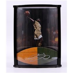 LeBron James Signed LE St. Vincent - St. Mary High School Game-Used Floor Piece with Custom Curve Di