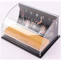 """Tim Duncan Spurs """"Banners Last Forever"""" Game-Used Floor Piece with Custom Curve Display (UDA Hologra"""
