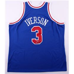 Allen Iverson Signed 76ers Mitchell  Ness Authentic On-Court Jersey (UDA COA)