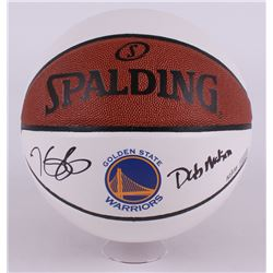 "Kevin Durant Signed LE Warriors Logo Basketball Inscribed ""Dub Nation"" (Panini COA)"