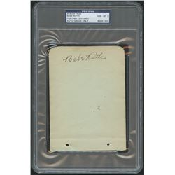 Babe Ruth Signed 4x6 Cut (PSA Encapsulated)