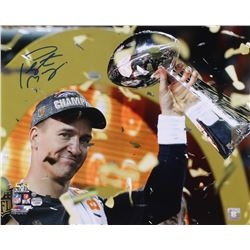 Peyton Manning Signed Broncos 16x20 Photo (Steiner COA  Fanatics Hologram)