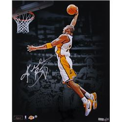 "Kobe Bryant Signed Lakers LE ""Dunk"" 16x20 Photo (Panini COA  Steiner COA)"