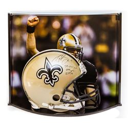 "Drew Brees Signed LE Saints Full-Size Authentic Pro-Line Helmet Inscribed ""SB XLIV MVP,"" ""288 Yds"""