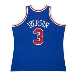 Allen Iverson Signed Mitchell  Ness 1996-97 Blue 76ers Jersey (UDA COA)