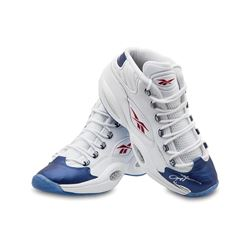 Allen Iverson Signed Reebok Question Mid Shoes With Blue Toe LE 30 (UDA COA)