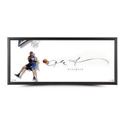 "Allen Iverson Signed The Show ""The Dish"" 46x20 Custom Framed Lithograph (UDA COA)"